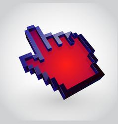 colorful hand arrow cursor vector image vector image