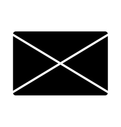 Email black isolated icon over white background vector image