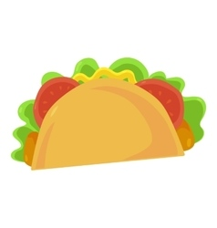 Fast food taco icon vector image vector image