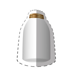 Glass jar with metal cap vector