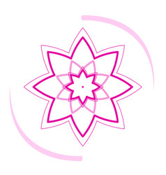 isolated lotus icon vector image
