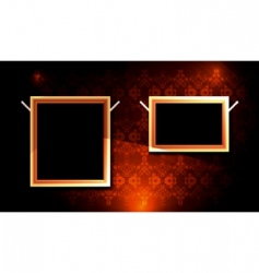 picture frame gallery vector image
