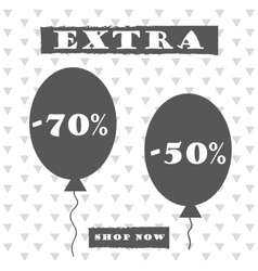 Sale banner graphic style vector image vector image