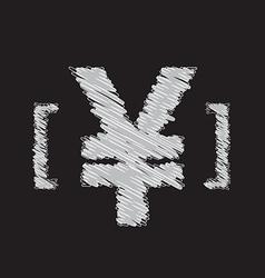 yen icon sketch design vector image vector image