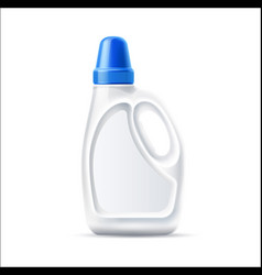 3d laundry detergent bottle blank mockup vector image