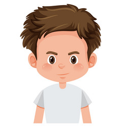a boy character on white background vector image