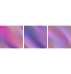 abstract holographic neon wavy gradient stripes vector image