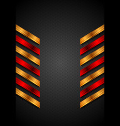 abstract technology background with red orange vector image