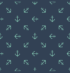 anchor seamless pattern boys print clothing sea vector image