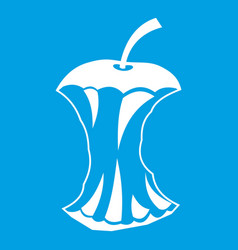 Apple core icon white vector