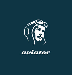 Aviator logo vector