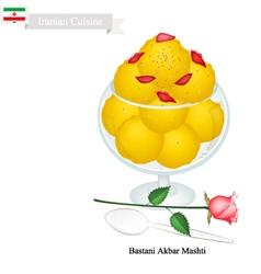 Bastani Akbar Mashti or Iranian Ice Cream vector