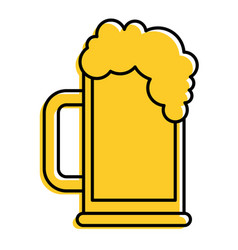 beer glass foam drink icon vector image