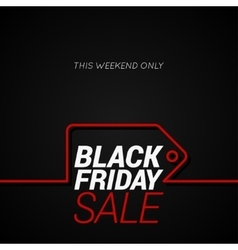 Black Friday sale tag concept line background vector