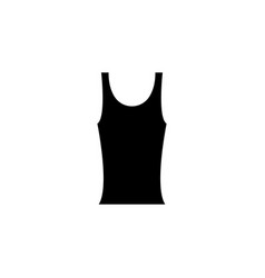 black tank t-shirt for womens icon vector image
