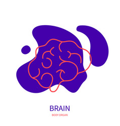 Brain side view icon of human nervous system vector