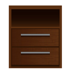 brown nightstand mockup realistic style vector image