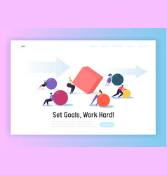 Business competition concept landing page vector