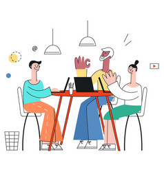 business meeting concept in vector image