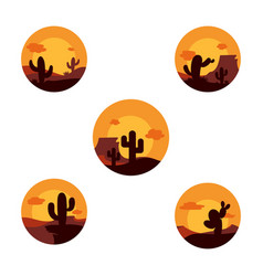 cactus icon design template vector image