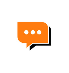 chat talk logo chat talk logo vector image