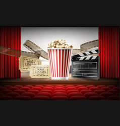 cinema concept 3d vector image