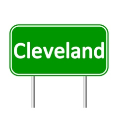 Cleveland green road sign vector image