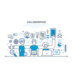 concept of cooperation partnerships teamwork vector image