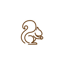 creative squirrel logo vector image