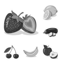 Design of vegetable and fruit symbol set vector
