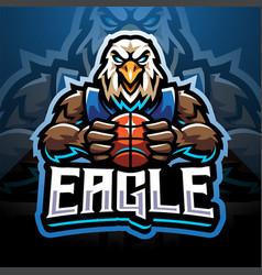 eagle sport esport mascot logo vector image
