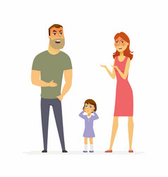 Family argument - cartoon people character vector