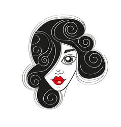 Fashion girl portrait vector