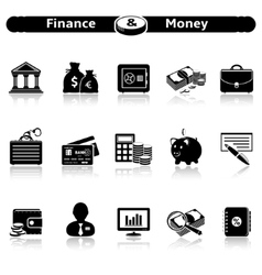 Finance Money Icons vector image