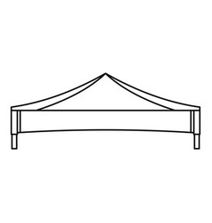 Folding tent icon outline style vector