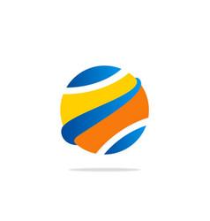Globe abstract ball color logo vector