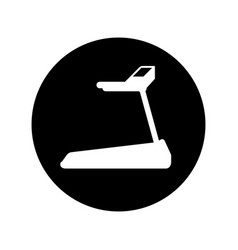 Gym treadmill machine icon vector