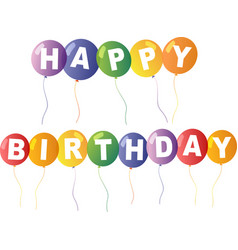 Happy birthday card template with colorful vector
