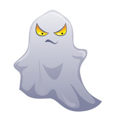 Happy halloween angry ghost vector