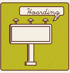 Hoarding icon vector