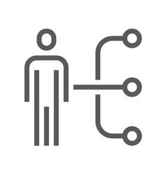 Human resource line icon employee skills vector