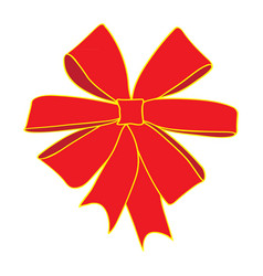 image of a red bow vector image