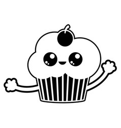 isolated cupcake design vector image