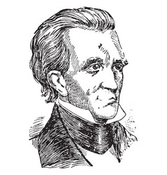 James polk vintage vector
