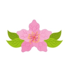 japanese plant nature isolated icon vector image