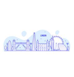 london skyline england uk city buildings vector image