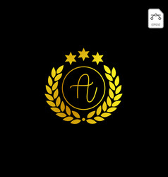 Luxury a initial logo or symbol business company vector