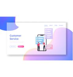 Management consumerism landing page template vector