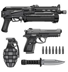 modern machine gun vector image