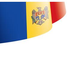 Moldova flag on a white vector